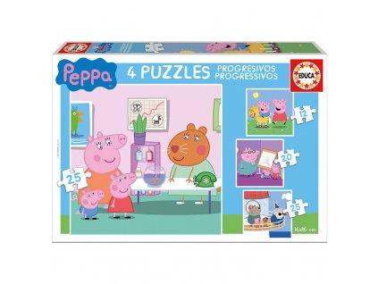Educa Progressive Puzzle Peppa 4v1