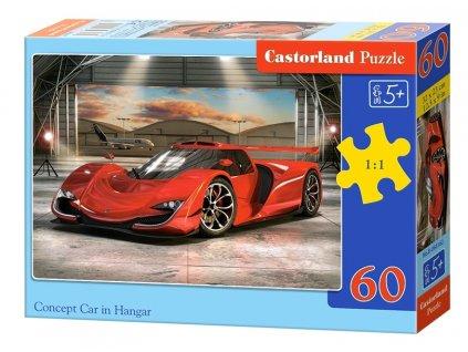 Castorland detské puzzle Auto v hangári 60 dielikov