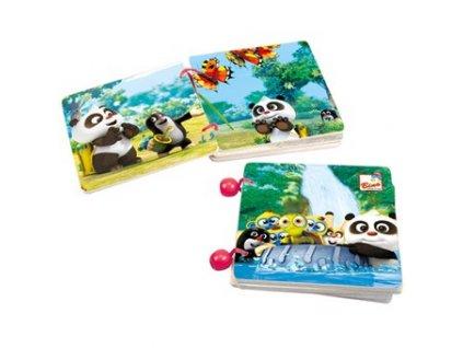 Bino Drevená knižka Krtko a Panda