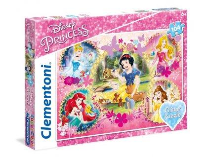 Clementoni brilliant puzzle Disney Princezné 104 dielikov
