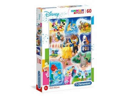 Clementoni puzzle Disney: Čas na tanec - 60 dielikov