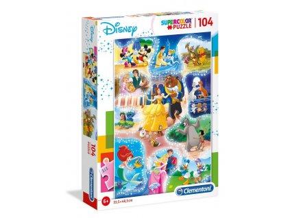 Clementoni puzzle Disney: Čas na tanec 104 dielikov