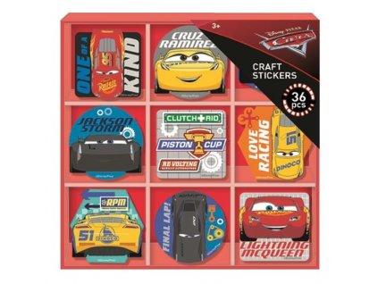 Disney Krabička s nálepkami - Autá 3