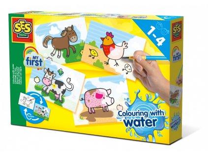 SES Creative Prvé Maľovanie vodou a štetcom - Farma