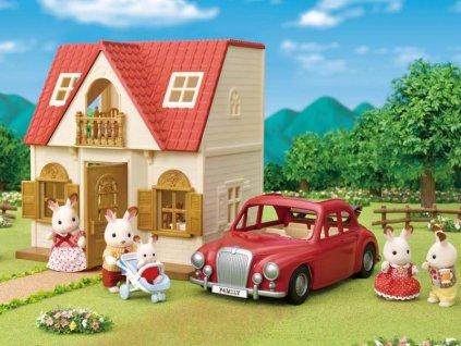 Sylvanian Families 5448 - Rodinné cestovné auto červené