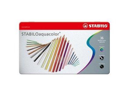 Stabilo Aquacolor 36 farbičiek v kovovom boxe