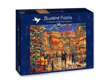 Bluebird puzzle Vianoce na námestí 2000 dielikov