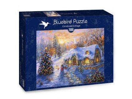 Bluebird puzzle Vianočná Chalúpka 2000 dielikov