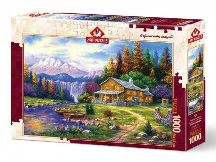 Art puzzle Západ slnka v horách 1000 dielikov