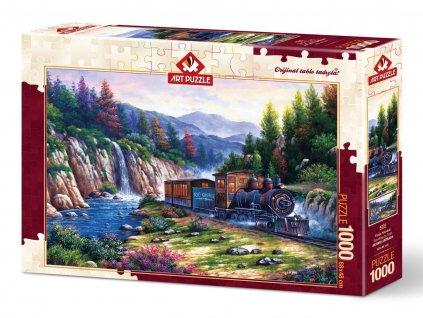 Art puzzle Cesta parným vlakom 1000 dielikov
