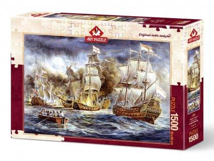 Art puzzle Námorná bitka 1500 dielikov