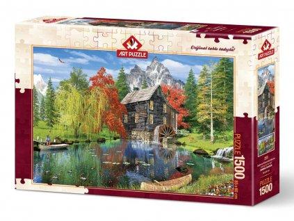 Art puzzle Vodný mlyn 1500 dielikov