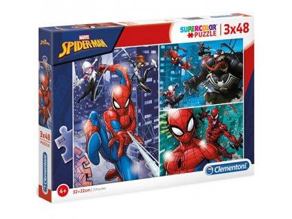 Clementoni puzzle Spiderman sada 3 x 48 dielikov