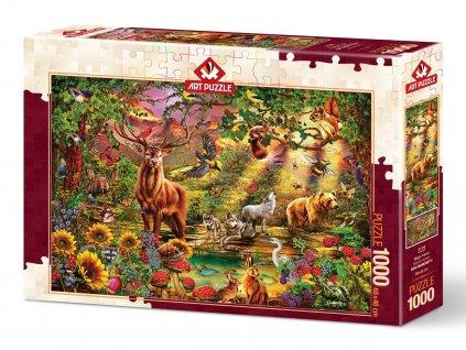 Art puzzle Čarovný les 1000 dielikov