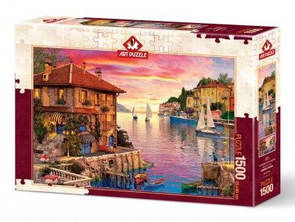 Art puzzle Prístav v Stredomorí 1500 dielikov