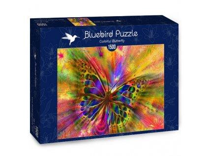 Bluebird puzzle Farebný motýľ 1500 dielikov