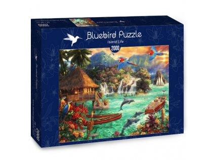 Bluebird puzzle Život na ostrove 2000 dielikov