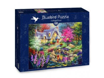 Bluebird puzzle Domček pri jazierku 1500 dielikov