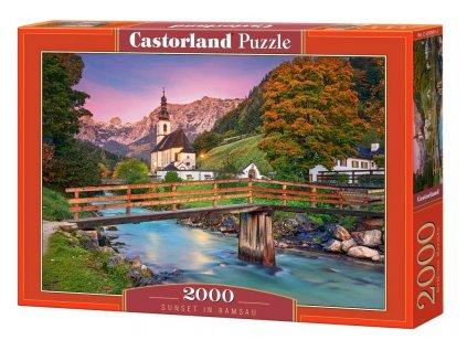 Castorland puzzle  Západ slnka v Ramsau 2000 dielikov