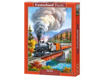 Castorland puzzle Parný vlak 500 dielikov