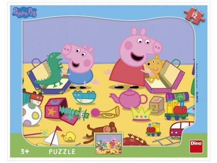 Dino puzzle Peppa Pig 12 dielikov