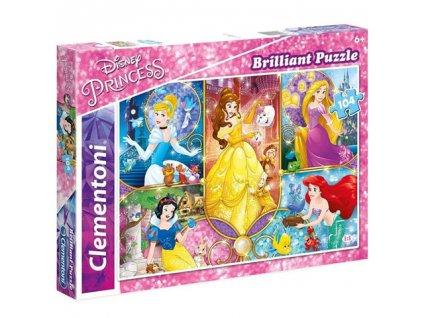 Clementoni brilliant puzzle Disney Princezné New 104 dielikov