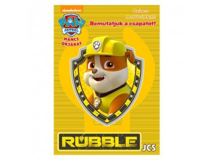 Pracovný zošit Predstavujeme tím - Rubble (s nálepkami)