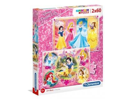 Clementoni puzzle Disney Princess 2x60 dielikov