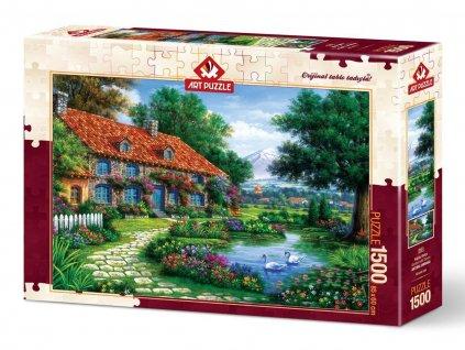 Art Puzzle Domček so záhradou 1500 dielikov