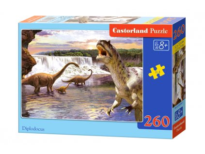 Castorland puzzle Dinosauri: Diplodocus - 260 dielikov