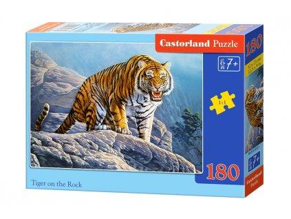 Castorland puzle Tiger na skale - 180 dielikov
