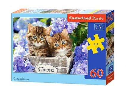 Castorland detské puzzle Mačiatka 60 dielikov