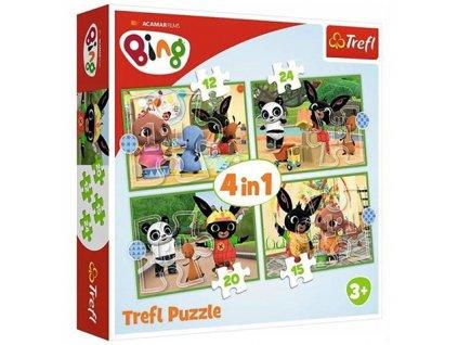 Trefl puzzle Bing 4v1 sada