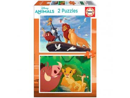Educa puzzle Leví Kráľ 2x48 dielikov