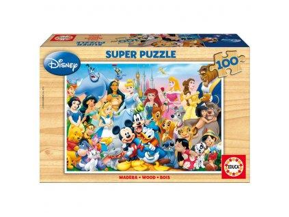 Educa drevené puzzle - Svet Disneyho 100 dielikov
