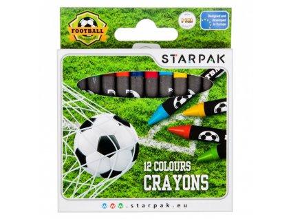 Starpak Futbal voskovky 12 ks