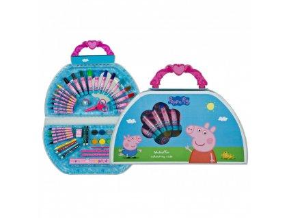 Kreatívny kufrík prasiatko Peppa 50 ks