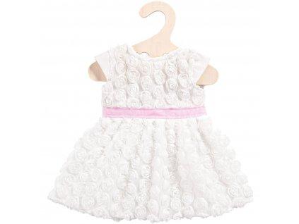 Heless - Biele šaty ( veľ. 35- 45 cm)