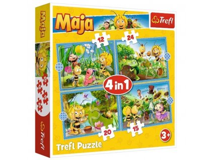 Trefl puzzle Včielka Maja sada 4v1 (12, 15, 20, 24 dielikov)
