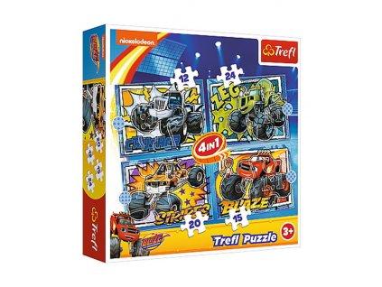 Trefl puzzle Blaze sada 4v1 (12, 15, 20, 24 dielikov)