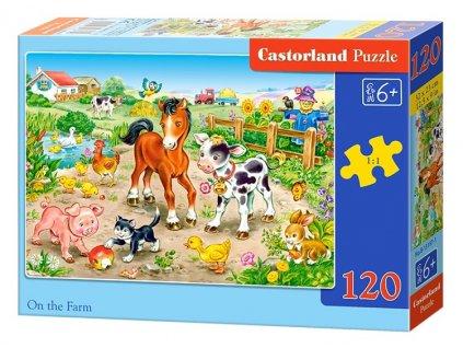 Castorland puzzle Na Farme 120 dielikov