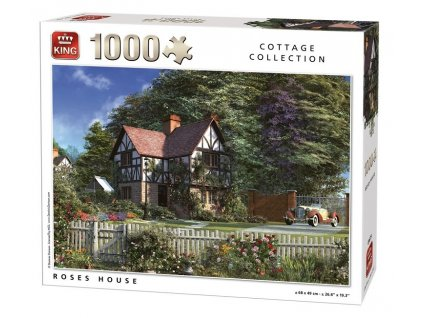King puzzle Roses House 1000 dielikov
