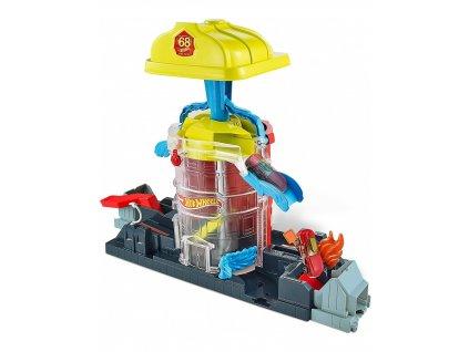 Hot Wheels City Super Fire House Rescue GJL06