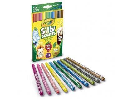 Crayola Silly Scent - Fixky pastelové 10 ks