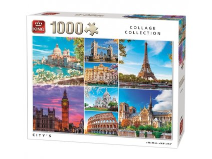 King puzzle Koláž Pamiatky 1000 dielikov