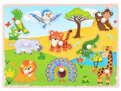Drevená vkladačka - Safari Zvieratká