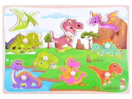 Drevená vkladačka - Dinosaury