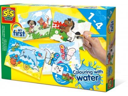SES Creative Prvé Maľovanie vodou a štetcom - Zvieratká