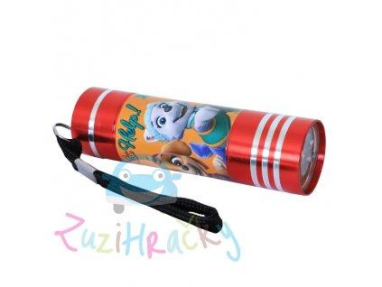 Kids Licensing Detská LED baterka Paw Patrol - Červená