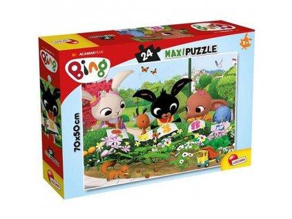 Lisciani Maxi puzzle - Bing v záhradke 24 dielikov